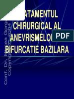 Tratamentul Chirurgical Al Anevrismelor de Bifurcatie Bazilara