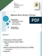 Memory Built in Self Testing