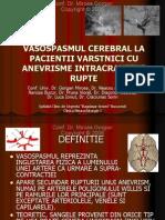 Vasospasmul cerebral la pacientii varsnici cu anevrisme intracraniene rupte