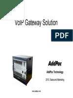 AddPac VoIP Gateway Solution
