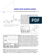 Form Positive Pulses From Negative Pulses