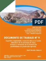 SUPERFICIE IMPLANTADA Y MANO DE OBRA EN EL SECTOR TABACALERO DE LA PROVINCIA DE JUJUY. AVANCES Y RETROCESOS  DE LA FRONTERA DE POSIBILIDADES DE PRODUCCION AGRICOLA(1).pdf