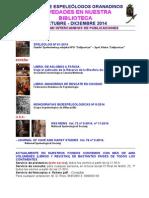 2014 - 4 - Novedades Biblioteca G.E.G.
