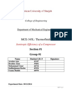 Lab 9 Isentropic Efficiency of a Compressor