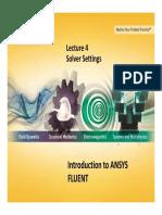 FLUENT-Intro 14.0 L04 SolverSettings