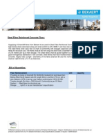 Specifications for the Steel Fibers Reinforced Concrete