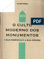 RIEGL, A (1903) O culto moderno dos monumentos [Ed. Perspectiva - 2014]