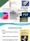 Nylon (Textiles industry) organic chemistry assignment slide