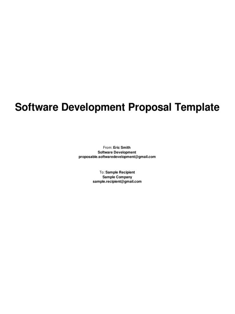 Software Development Proposal Template – Sample Work Proposal Template