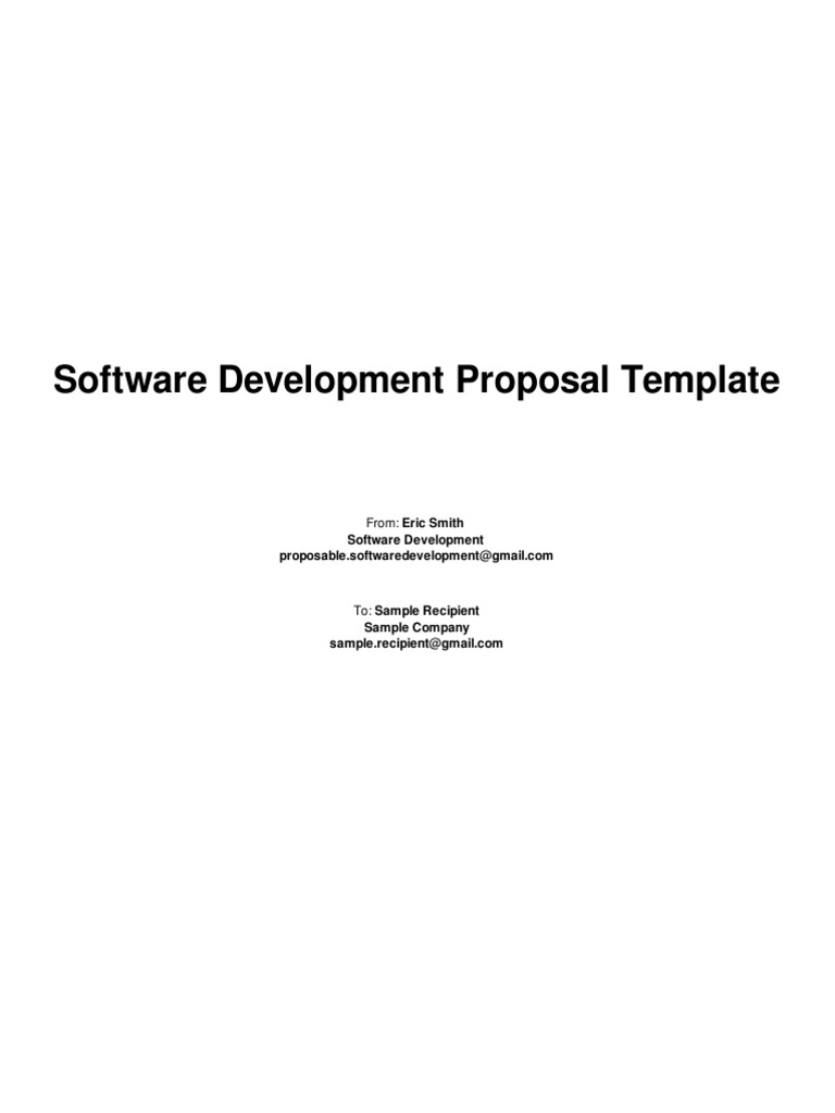 software development proposal template verification and validation quality assurance