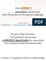Bruno Coelho's Sales Pitch for the Cardone University