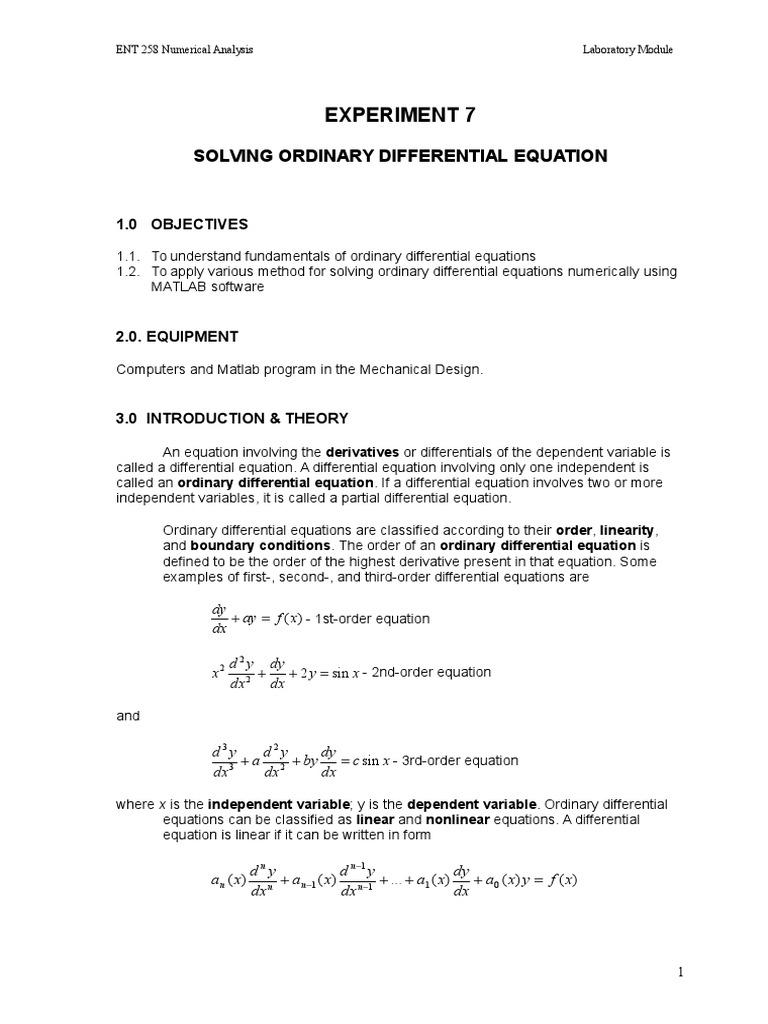 e7 Ordinary Differential Equation New_0   Ordinary