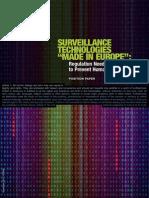 Surveillance Technologies Made in Europe