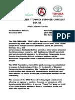 DPAO Summer Concert Series Nets $101,000 for Organization