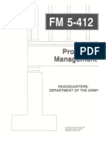 Army - fm5 412 - Project Managment