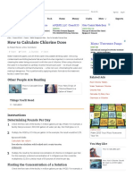 How to Calculate Chlorine Dose