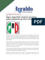 31/12/2014 Agua, Seguridad y Buenos Servicios, Piden Habitantes de SLP a Rosas R.
