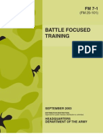 Army - fm7 1 - Battle Focused Training