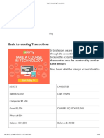 Basic Accounting Transactions
