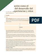 La Educación Como El Corazón Del Desarrollo Del Perú