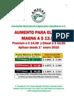 Precios Gasolina 2015