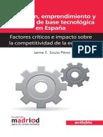 Innovación, emprendimiento y empresas de base tecnológica en España