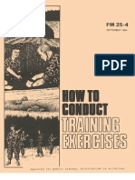 Army - fm25 4 - How to Conduct Training Exercises