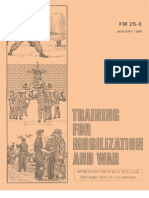 Army - fm25 5 - Training for Mobilization and War