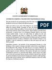 Governor Joseph K. Ndathi New Year Message 2015