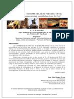 """I JORNADA de HISTORIA DEL ARTE PERUANO ORVAL """"Interacciones, convergencia y pluralidad en el arte del Perú"""" 20 Y 21 Enero 2015"""