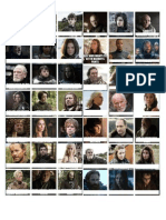 Game of Thrones Character Exam