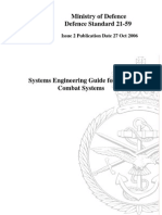 Defence Standard 21-59, Systems Engineering Guide for Naval Combat Systems