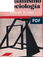 LYON, David, Cristianismo y Sociología