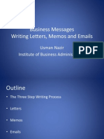 BusinessMessages LettersMemosEmails.ppt