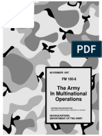 Army - fm100 8 - The Army In Multinational Operations