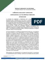 Ley de Arbitraje y Mediacion de Ecuador