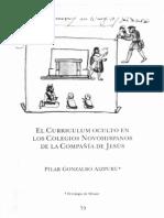 Pilar Gonzalbo El Curriculum Oculto