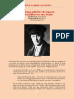 Furr & Bobrov - La 'Ultima Petición' de Bujarin. Otra Falsificación Anti-Stalin (Ene 2010) - CM-L