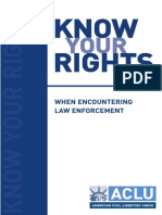 Know Your Rights When Encountering Law Enforcement