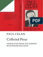 Paul Celan Collected Prose