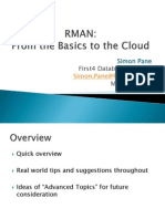 RMAN - From the Basics to the Cloud