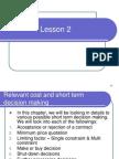 Lesson 2 dm budget costing