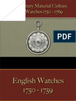 Time Pieces - Watches Silver 1750 - 1769