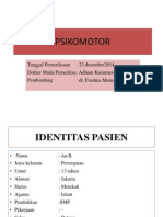 Persentasi Psikomotor Dr Fisalma (Veruka Vulgaris)