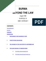 Burma Beyond Law