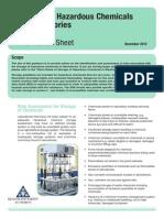 Storage of Hazardous Chemicals Information Sheet