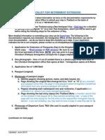 Retirement Visa Checklist