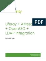 Liferay Alfresco OpenLDap OpenSSO