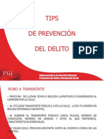 tips de prevencion del delito