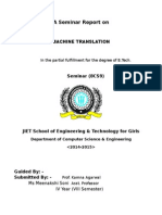 A Seminar Report on Machine Learing